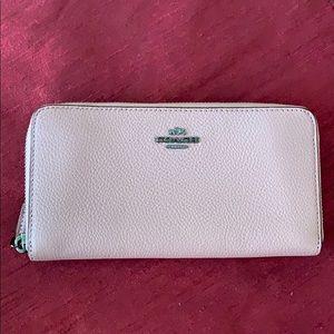 Coach pink Accordion Zip Wallet